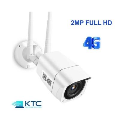 Telecamera IP 4G LTE 2MP da esterno, APP per smartphone, Micro SD e Cloud, IP66, Motion detection, IR30 M