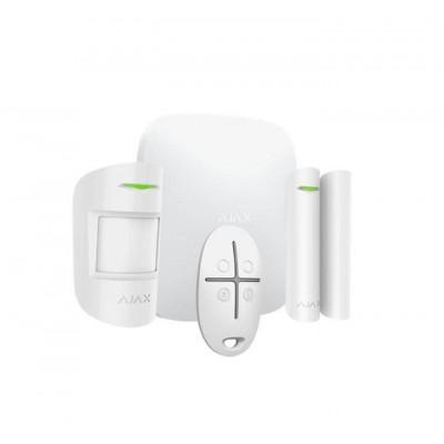 Ajax Starterkit – Kit Antifurto Ajax Bianco – Centrale GSM + Rivelatore Motion Protect + Contatto Magnetico Door Protect + Telec
