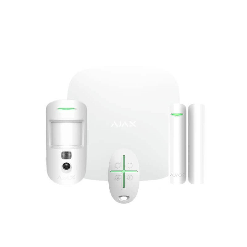 Ajax Starterkit Cam – Kit Antifurto Ajax – Centrale HUB2 + MotionCam + Door  Protect + Space Control - AJ-STARTERKIT-CAM-W - Centrali Radio - KTC Shop