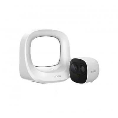 IMOU Kit Cell Pro – Base Station + 1 Telecamera WIFI 2MP con batteria ricaricabile, IP65, Rilevazione persone, notifiche allarme